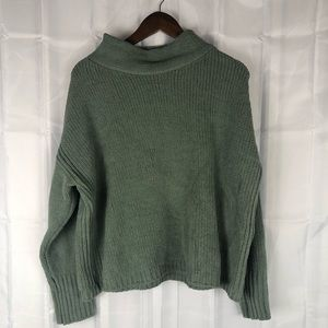Philosophy oversized knit cowl neck sweater green